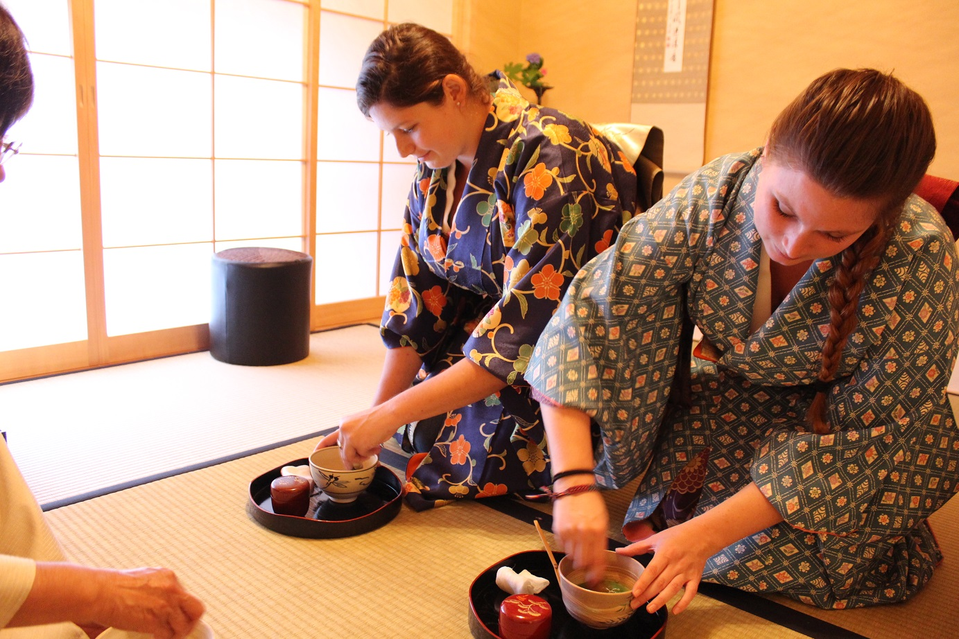 Private Tea Ceremony in Kimono & Okonomiyaki cooking